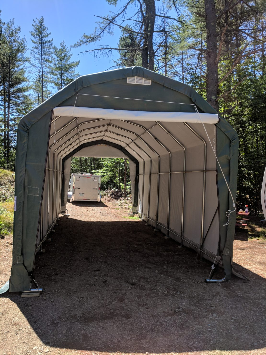 Rhino Shelter 12x28x12 Barn Style Setup on 7-20-18 | Paul ...